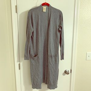 Sweaters - Light blue oversized cardigan